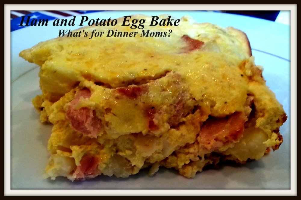 Ham and Potato Egg Bake