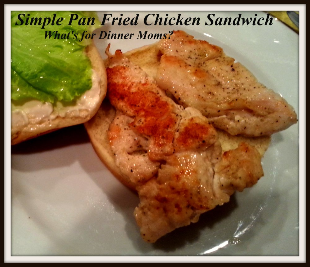Simple Pan Fried Chicken Sandwich (open)
