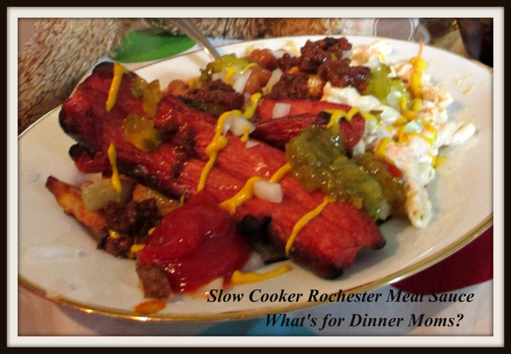 Slow Cooker Rochester Meat Sauce