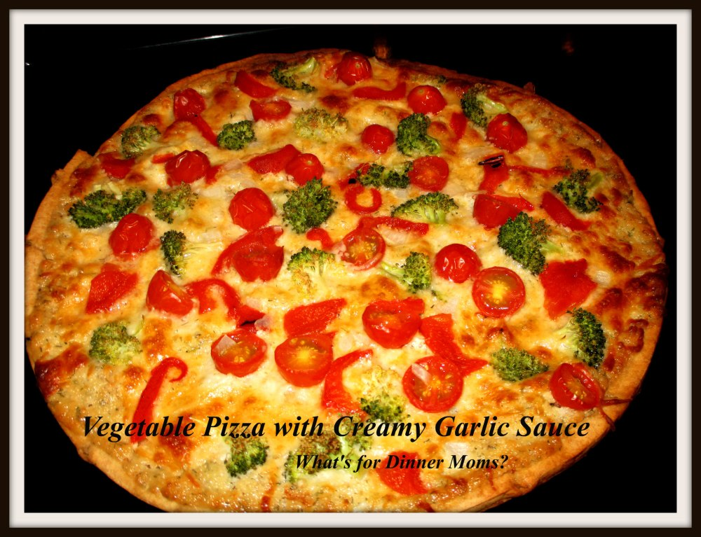 Vegetable Pizza with Creamy Garlic Sauce