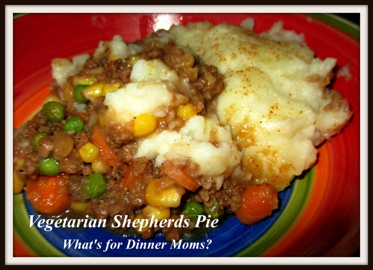 Vegetarian Shepherds Pie | What's for Dinner Moms?