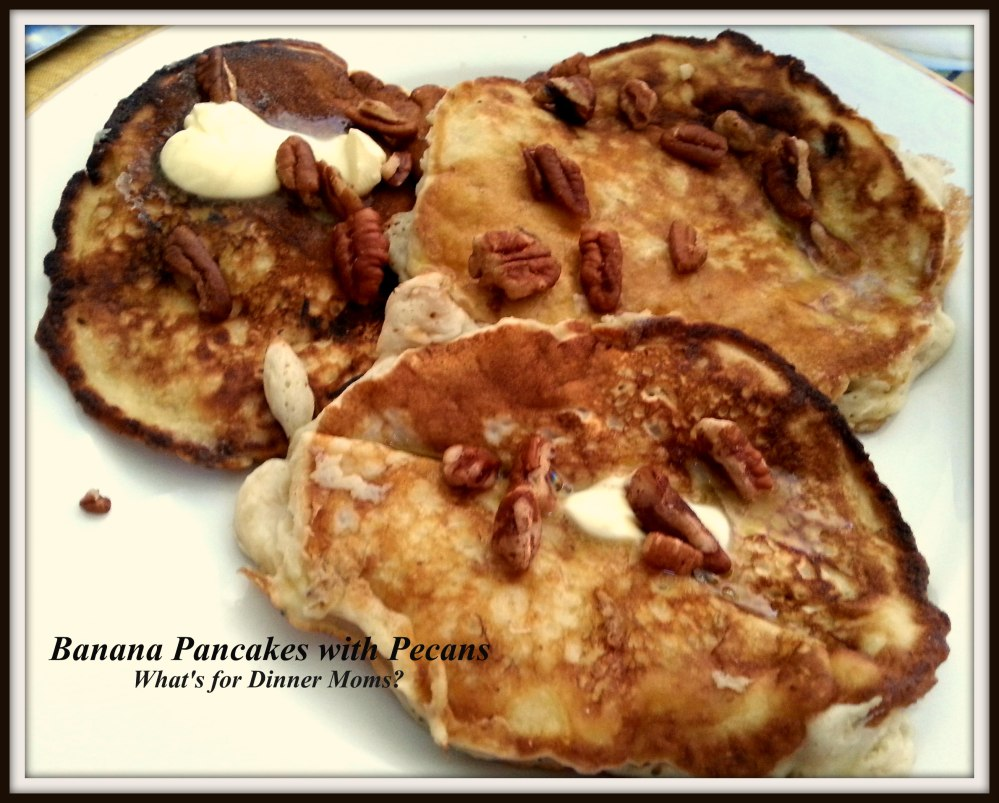 Banana Pancakes with Pecans