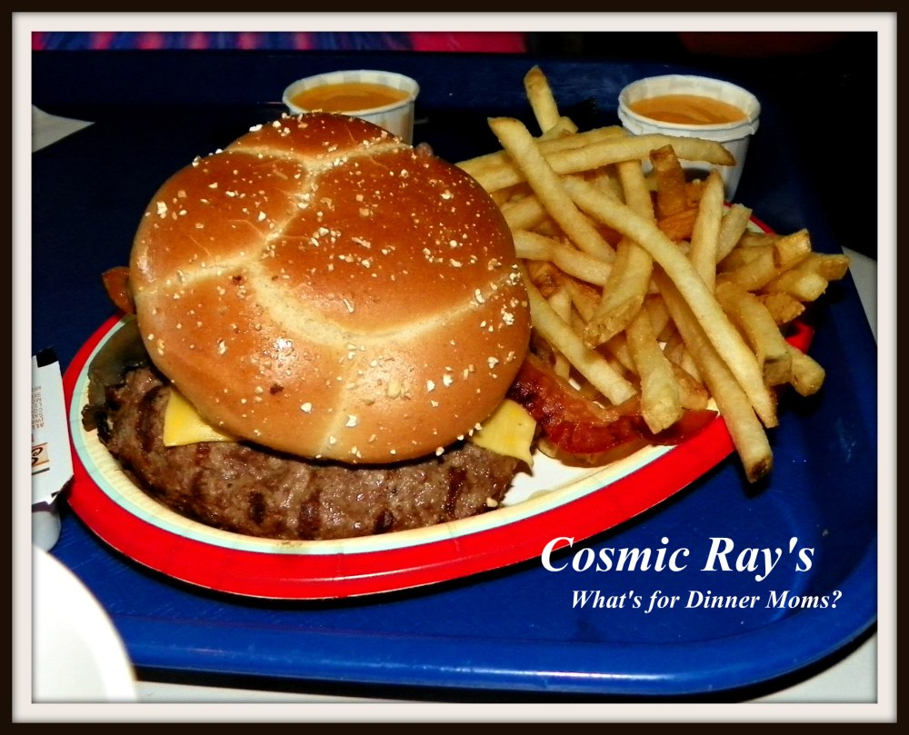 Cosmic Ray's Bacon, Swiss and Mushroom Burger