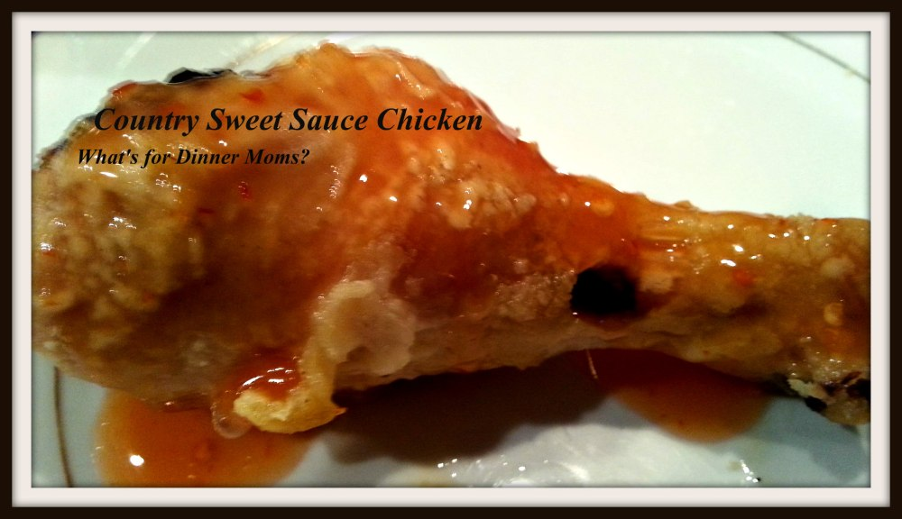 Country Sweet Sauce Oven Fried Chicken