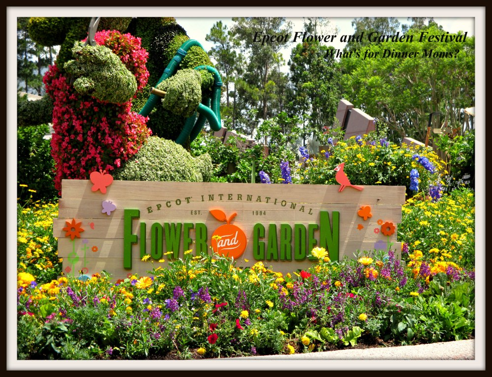 Epcot Flower and Garden Festival (sign)