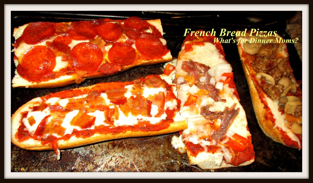 French Bread Pizzas (cooked)