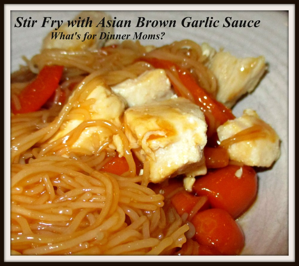 Stir Fry with Asian Brown Garlic Sauce (with Chicken)