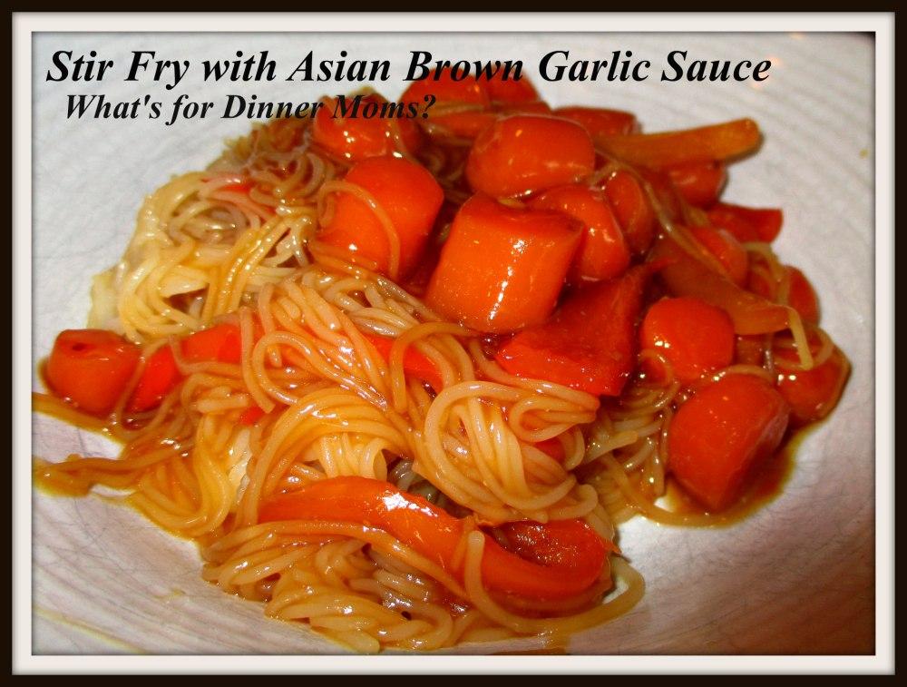 Stir Fry with Asian Brown Garlic Sauce