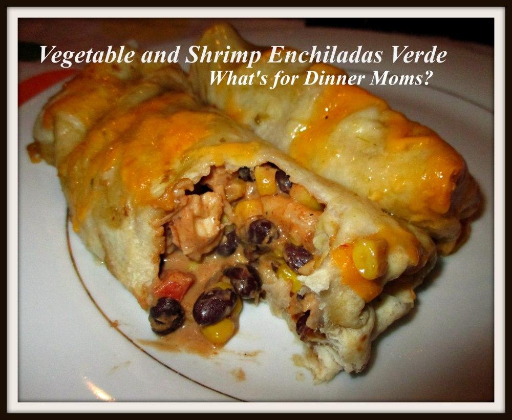 Vegetable and Shrimp Enchiladas Verde