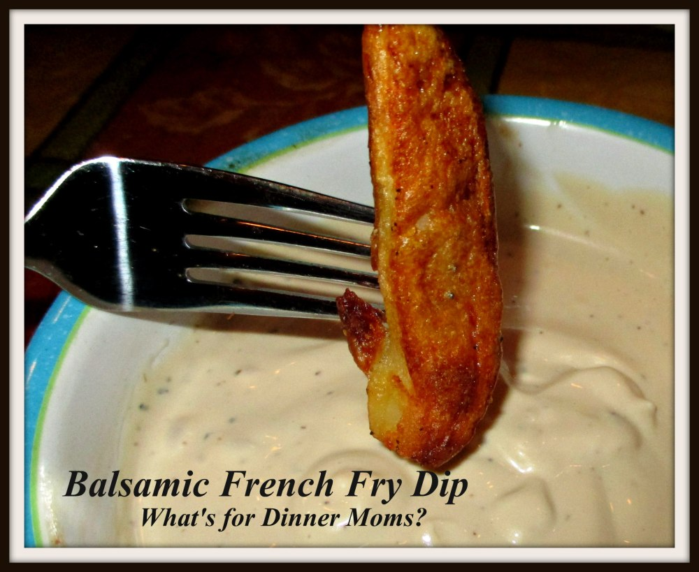 Balsamic French Fry Dip