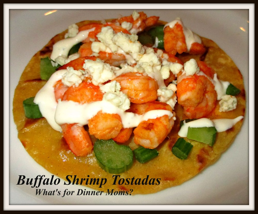 Buffalo Shrimp Tostadas