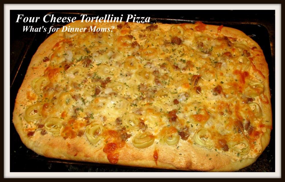 Four Cheese Tortellini Pizza