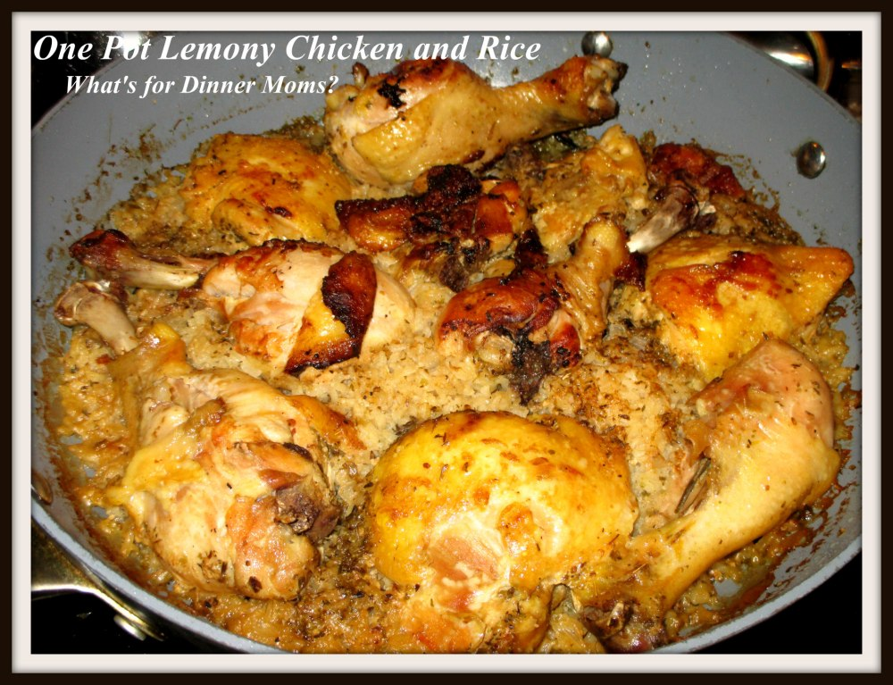 One Pot Lemony Chicken and Rice