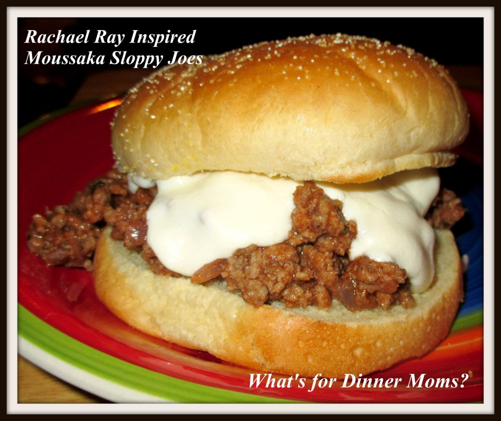 Rachael Ray Inspired Moussaka Sloppy Joes