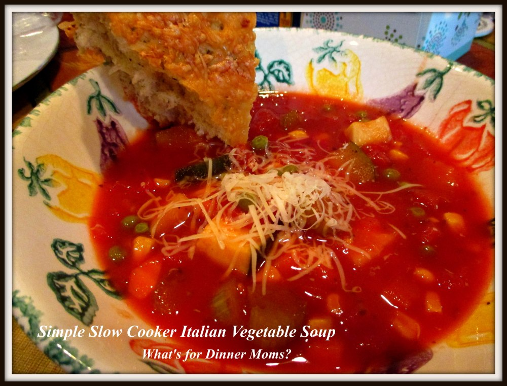 Simple Slow Cooker Italian Vegetable Soup
