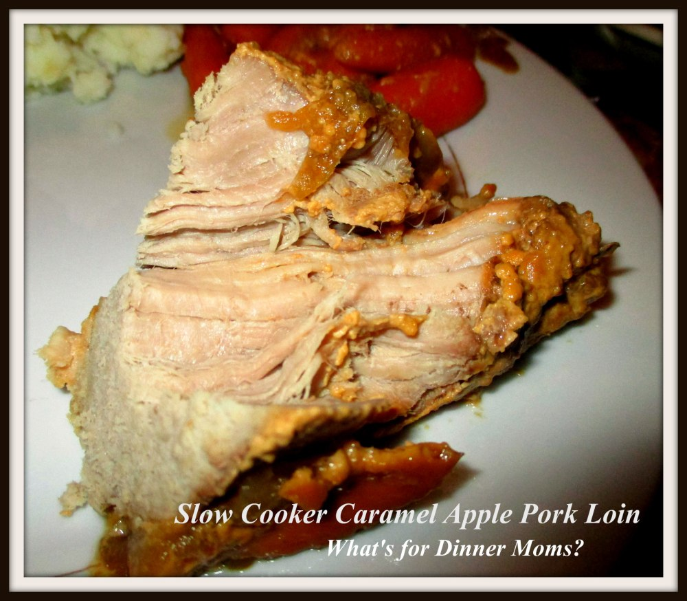 Slow Cooker Caramel Apple Pork Loin