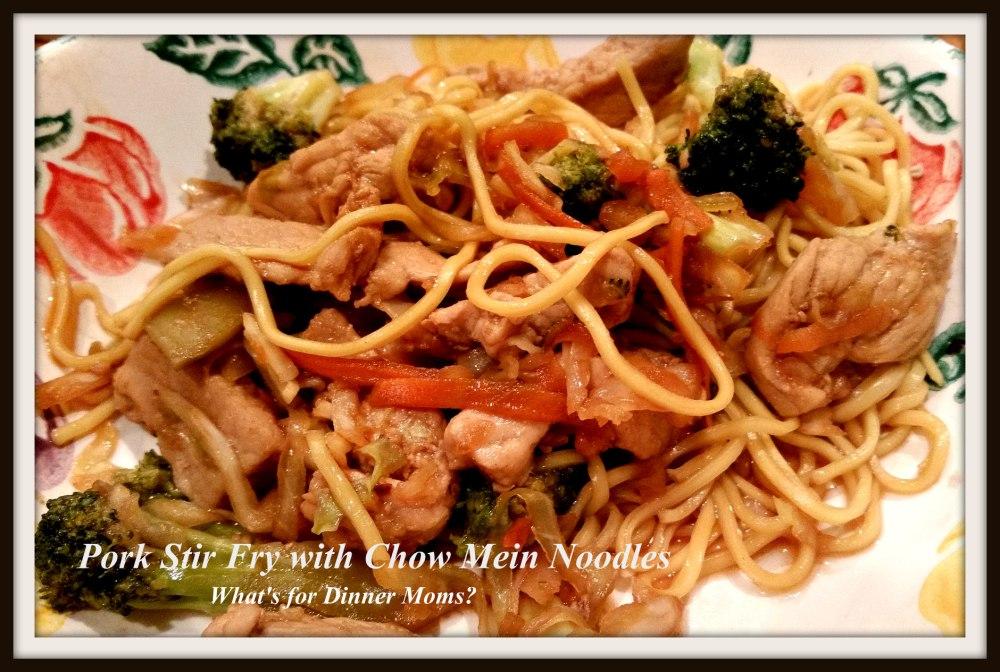 Pork Stir Fry wiht Chow Mein Noodles