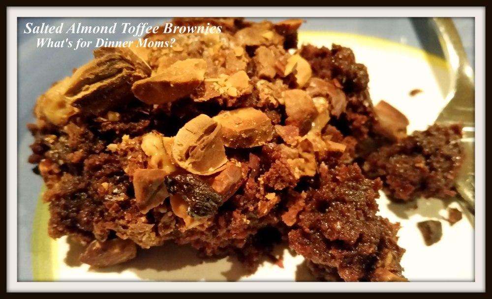 Salted Almond Toffee Brownies