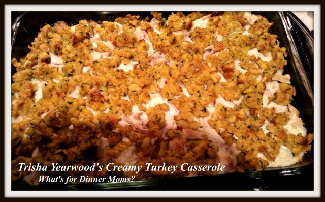 Trisha Yearwood's Creamy Turkey Casserole - What's for Dinner Moms