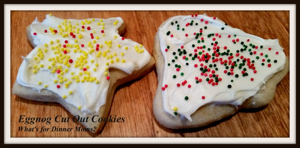 Eggnog Cut Out Cookies - Frosted