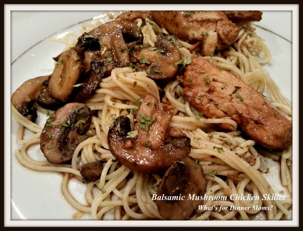 Balsamic Mushroom Chicken Skillet