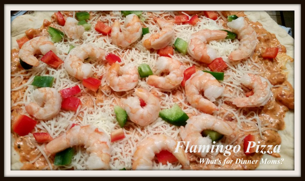 Flamingo Pizza with Shrimp