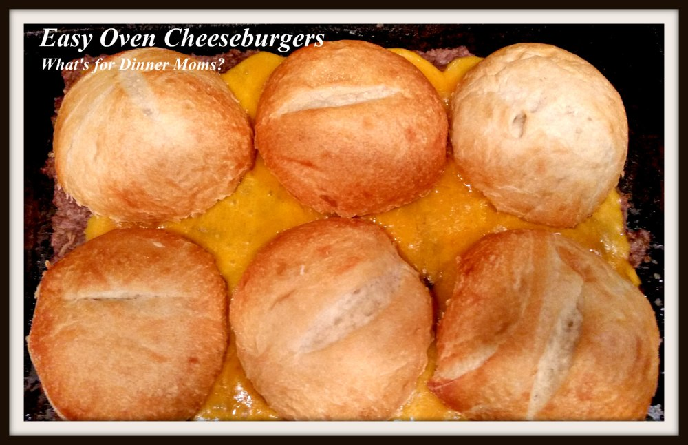Easy Oven Cheeseburgers - Final Step