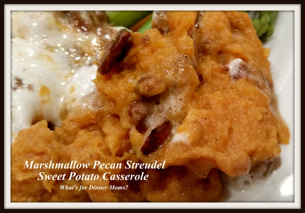 Marshmallow Pecan Streudel Sweet Potato Casserole (plated)