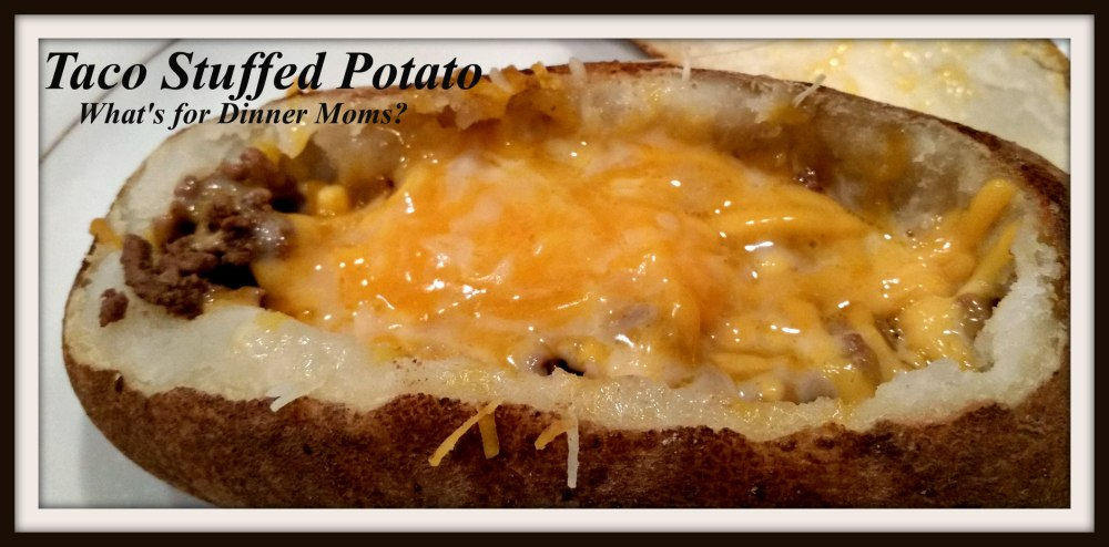 Taco Stuffed Potato (unstuffed)