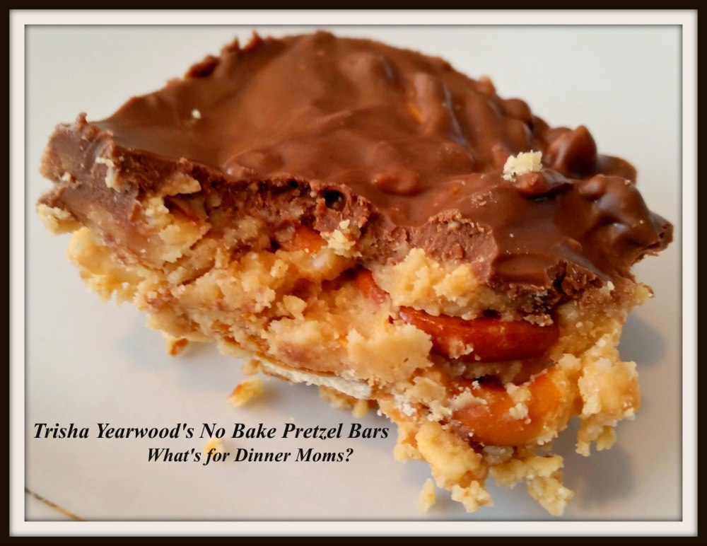 Trisha Yearwoods No Bake Pretzel Bars