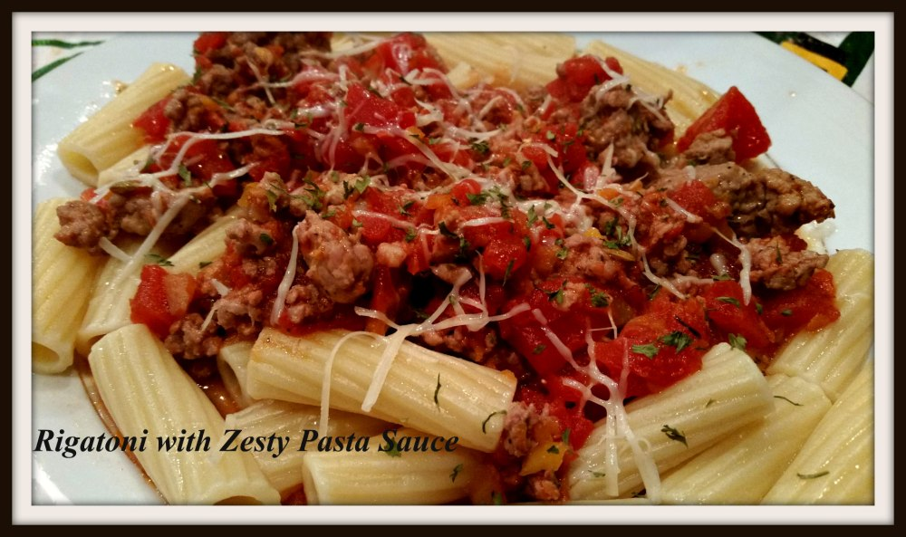 Rigatoni with Zesty Pasta Sauce