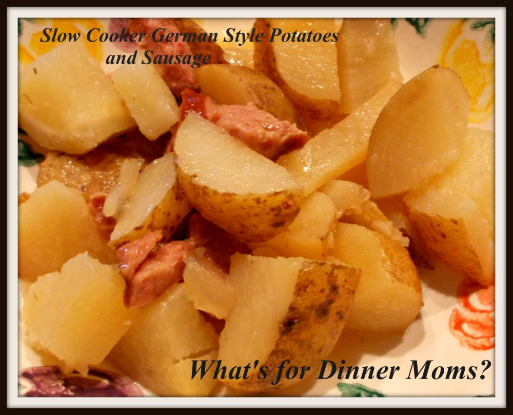 Slow Cooker German Style Potatoes and Sausage