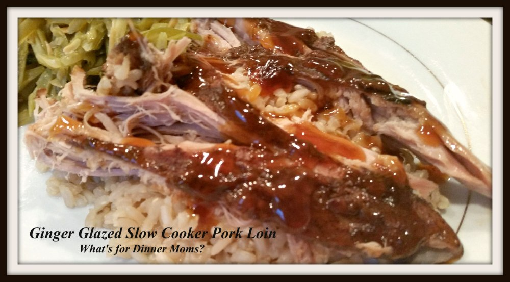 Ginger Glazed Slow Cooker Pork Loin