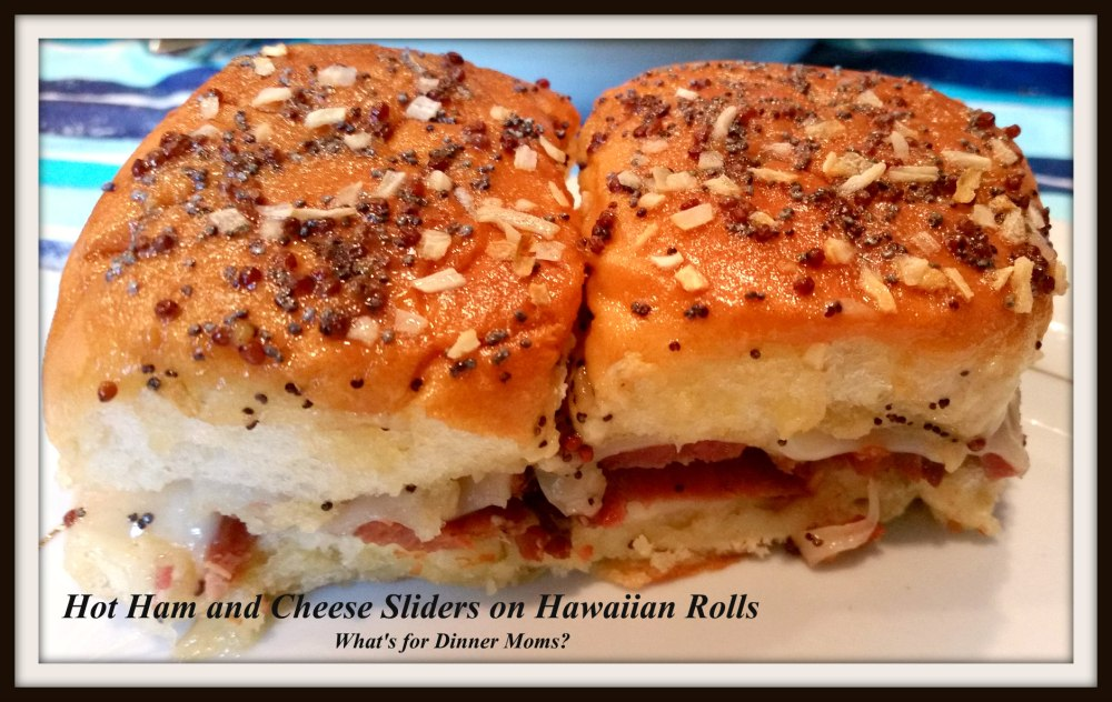 Hot Ham and Cheese Sliders on Hawaiian Rolls