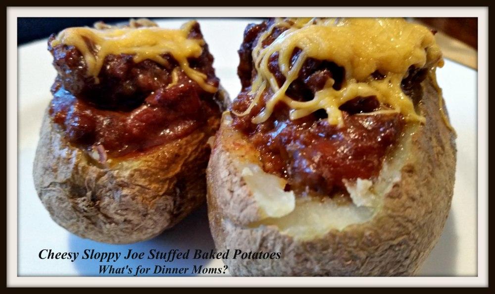 Cheesy Sloppy Joe Stuffed Baked Potatoes (2)