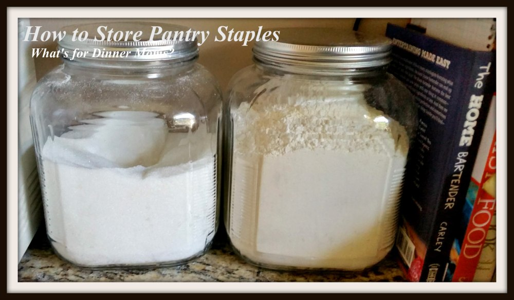 How to Store Pantry Staples