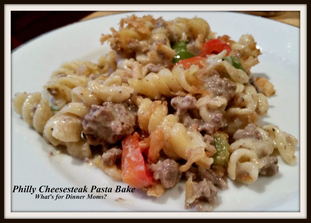 Philly Cheesesteak Pasta Bake (plated)