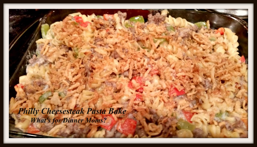 Philly Cheesesteak Pasta Bake