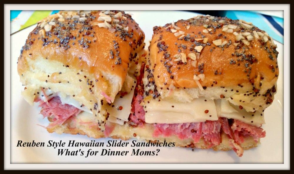 Reuben Style Hawaiian Slider Sandwiches (2)