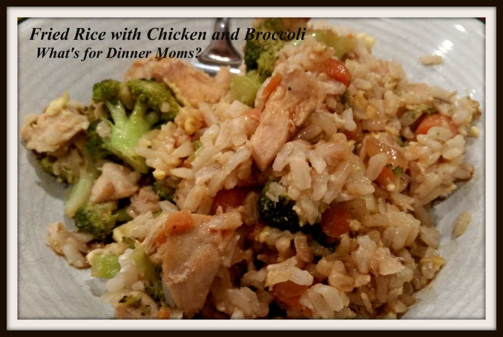 Fried Rice with Chicken and Broccoli