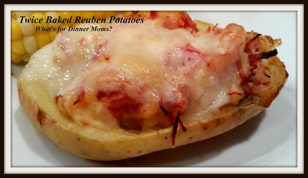 Twice Baked Reuben Potatoes