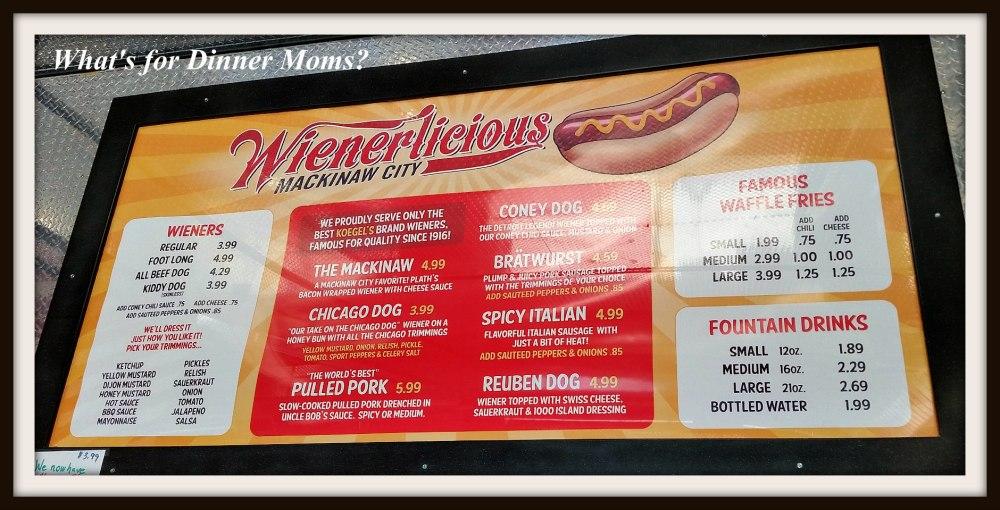 Wienerlicious Menu