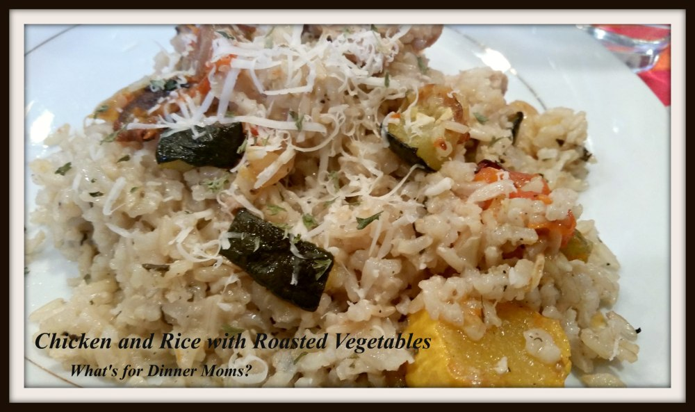 Chicken and Rice with Roasted Vegetables