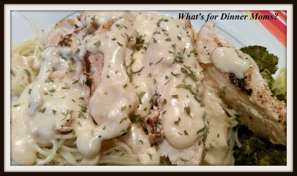 Grilled Chicke with Garlic Cheese Sauce