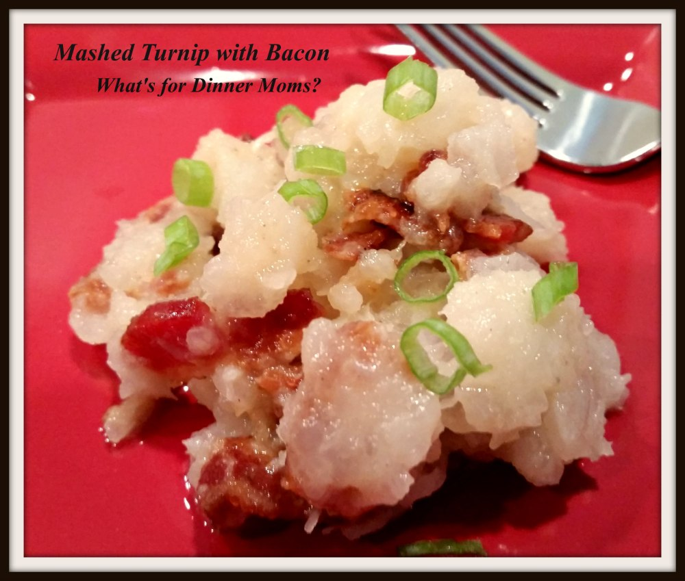 Mashed Turnip with Bacon