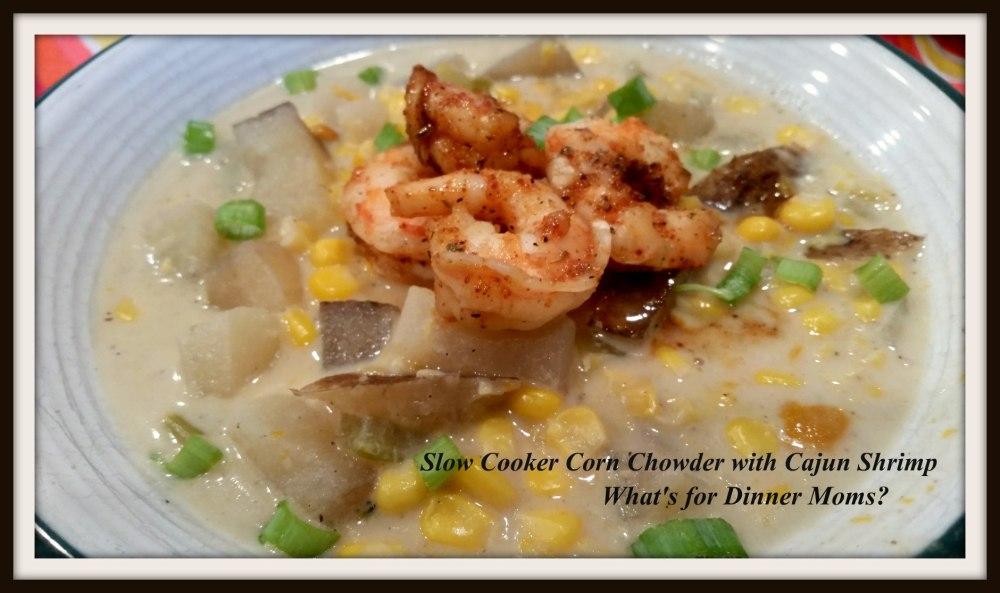 Slow Cooker Corn Chowder with Cajun Shrimp (1)
