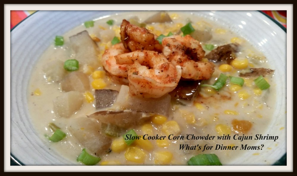 Slow Cooker Corn Chowder with Cajun Shrimp (1)