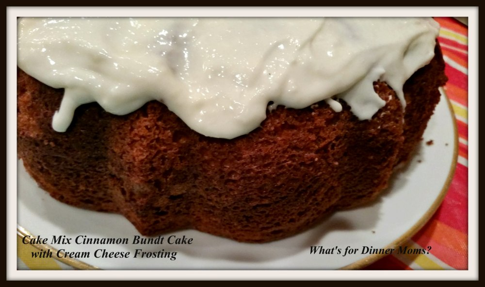 Cake Mix Cinnamon Bundt Cake with Cream Cheese Frosting