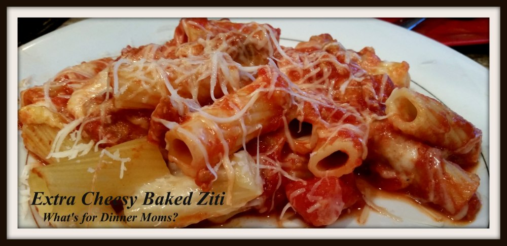 Extra Cheesy Baked Ziti (plated)