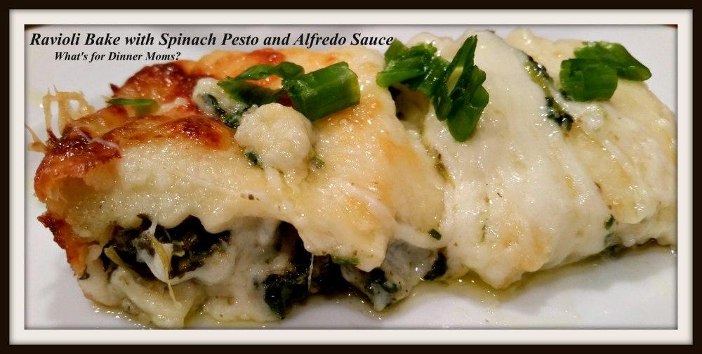 ravioli-bake-with-spinach-peso-and-alfredo-sauce